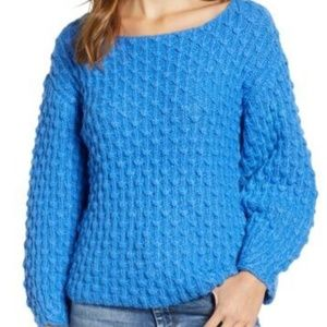 Love by Design Knot Stitch Sweater sz Med in Blue.